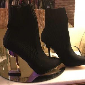Catherine Malandrino Black Sock Bootie